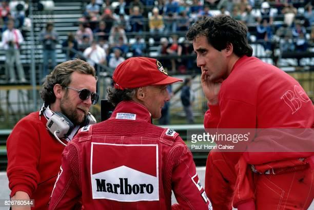 Alain Prost Niki Lauda Alan Jenkins Grand Prix of Austria Zeltweg 19 August 1984