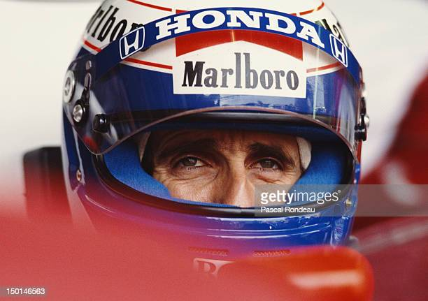 Alain Prost of France driver of the Honda Marlboro McLaren McLaren MP4/5 Honda V10 before the Fuji Television Japanese Grand Prix on 22nd October...