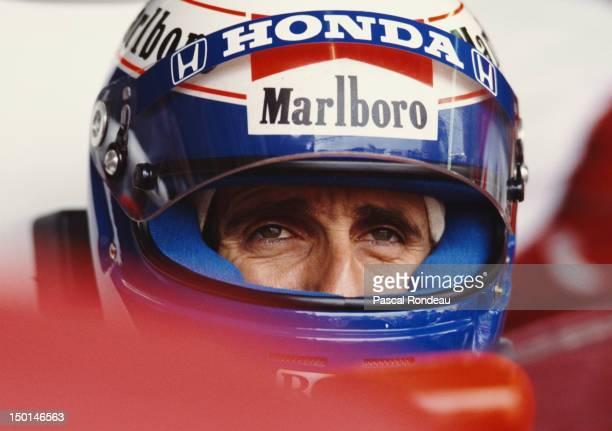 Alain Prost of France driver of the Honda Marlboro McLaren McLaren MP4/5 Honda V10 before the Fuji Television Japanese Grand Prix on 22nd October...
