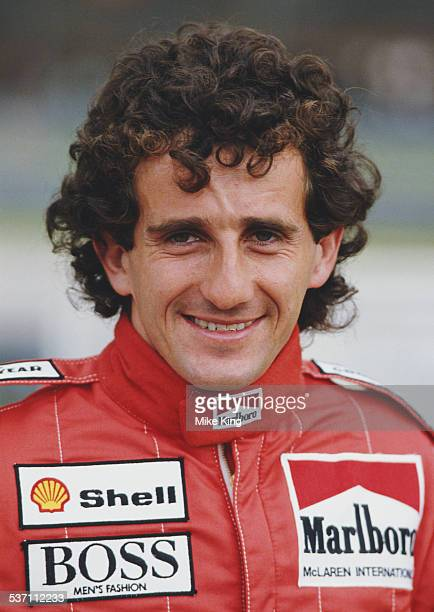 Alain Prost of France driver of the Marlboro McLaren International McLaren TAG MP4 2C during practice for the Brazilian Grand Prix on 22 March 1986...