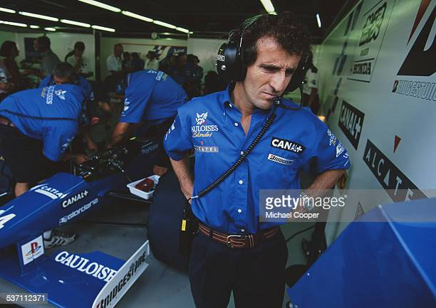 Alain Prost of France Team Principal for Prost Grand Prix during practice for the Italian Grand Prix on 6th September 1997 at the Autodromo Nazionale...