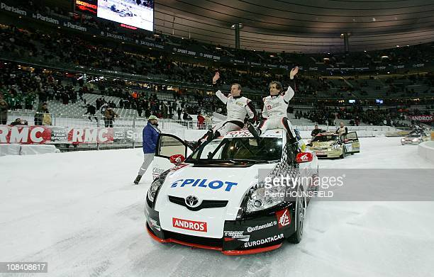 Alain Prost Olivier Panis winner of the final of Elite Sup Trophee Andros 2008 in SaintDenis France on 16th February 2008