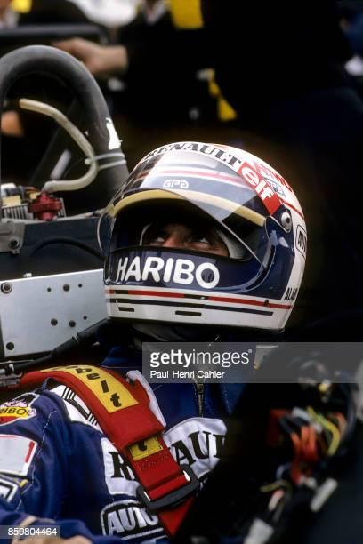 Alain Prost Renault RE40 Grand Prix of Germany Hockenheimring August 7 1983
