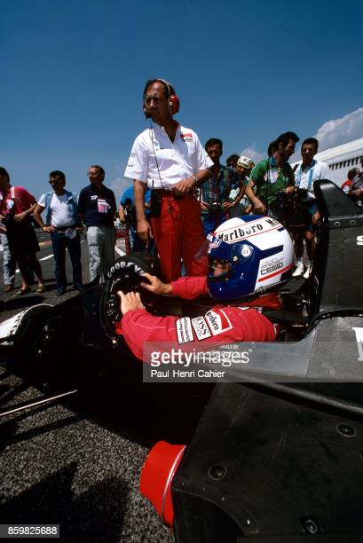 Alain Prost Ron Dennis McLarenHonda MP4/5 Grand Prix of France Circuit Paul Ricard July 9 1989