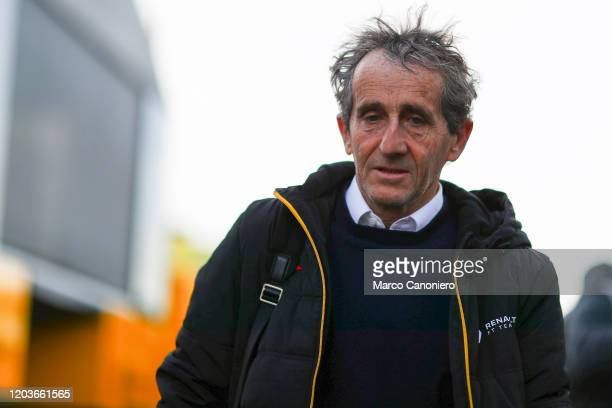 Alain Prost Special Advisor to Renault Sport F1 during day five of F1 Winter Testing