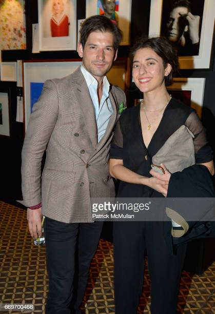 Alain Remise and Alyssa Benjamin attend The Turtle Conservancy's 4th Annual Turtle Ball at The Bowery Hotel on April 17 2017 in New York City