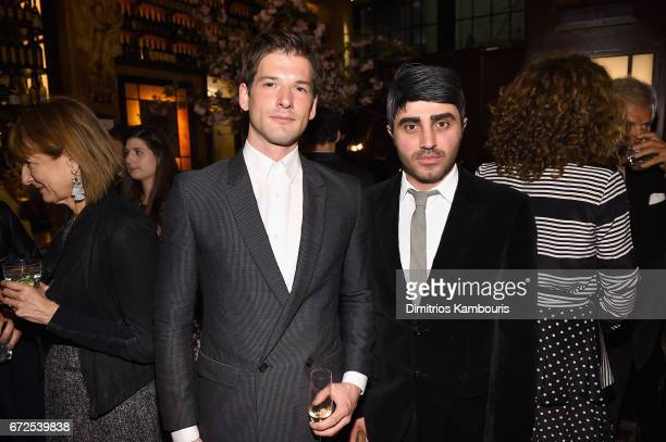Alain Remise and Bryan Grey attend the CHANEL Tribeca Film Festival Artists Dinner at Balthazar on April 24 2017 in New York City