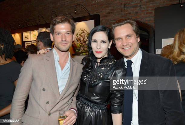 Alain Remise Jill Kargman and Harry Cartman attend The Turtle Conservancy's 4th Annual Turtle Ball at The Bowery Hotel on April 17 2017 in New York...