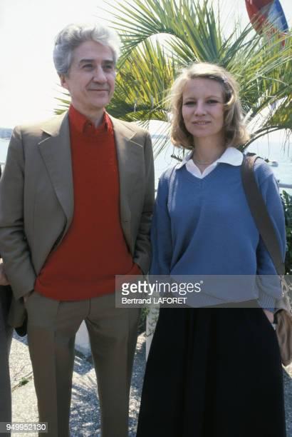 Alain Resnais et Nicole Garcia au Festival de Cannes en mai 1980 France