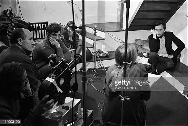 Alain Robbe-Grillet, Catherine Jourdan, Jean-Louis Trintignant in France on June, 1966-Jean-Louis Trintignant.