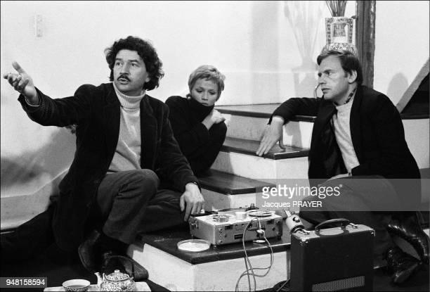 Alain Robbe-Grillet, Catherine Jourdan, Jean-Louis Trintignant. .