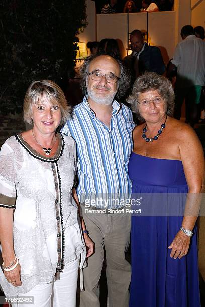 Alain Sachs with wife and President of Ramatuelle Festival Jacqueline Franjou attend Christelle Chollet one woman show The New Show written and set...