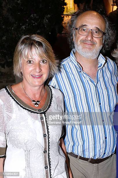 Alain Sachs with wife attend Christelle Chollet one woman show The New Show written and set stage by Remy Caccia at 29th Ramatuelle Festival day 10...