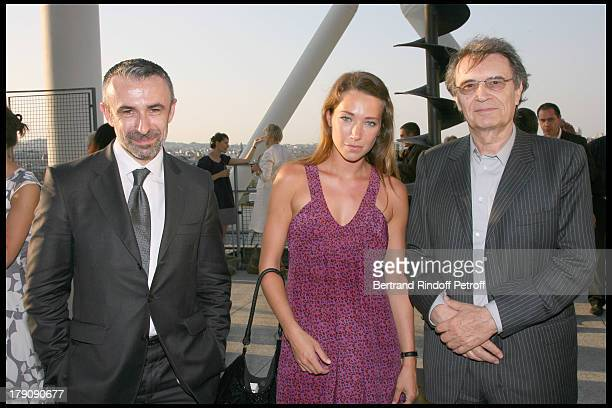Alain Seban Laura Smet and Bertrand De Labbey at Private Viewing Of The Exhibition elles@centrepompidou Featuring Works Of More Than 200 Female...