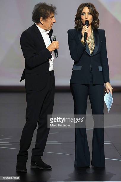 Alain Souchon and Virginie Guilhaume attend the 30th 'Victoires de la Musique' French Music Awards Ceremony at le Zenith on February 13 2015 in Paris...