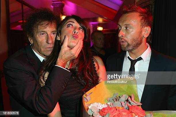 Alain Souchon Nolwenn Leroy and Pierre Souchon attend the 'IFRAD' Gala at Cirque D'Hiver In Paris on September 25 2013 in Paris France