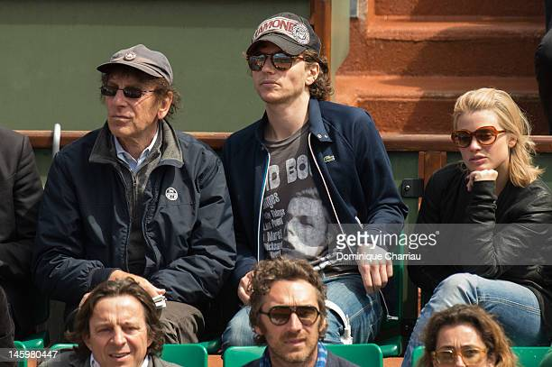Alain Souchon Raphael and Melanie Thierry sighting during the French open at Roland Garros on June 8 2012 in Paris France