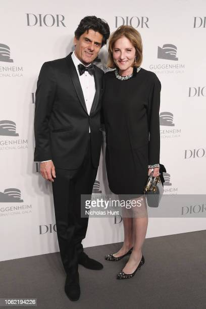 Alain Taghipour and Elizabeth Duggal attend the Guggenheim International Gala Dinner made possible by Dior at Solomon R Guggenheim Museum on November...