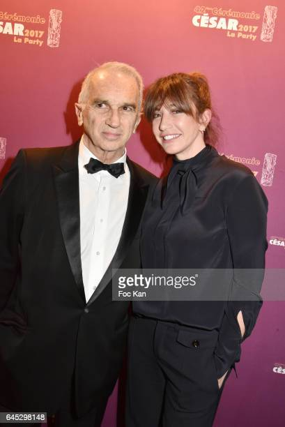 Alain Terzian and Albane Cleret attend the Cesar's after party at Le Queen Club on February 24 2017 in Paris France