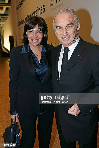 Alain Terzian and Anne Hidalgo attend the 8th Annual Dinner of the 'Societe Des Amis Du Musee D'Art Moderne' at Centre Pompidou on February 5 2013 in...