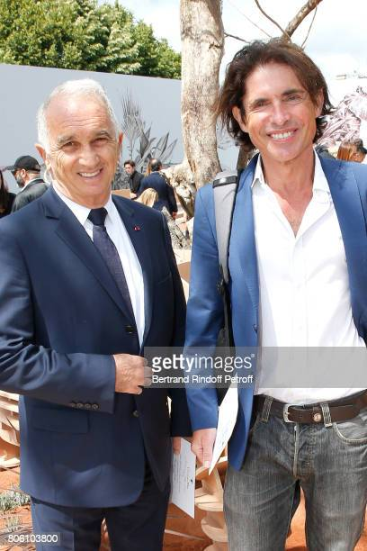 Alain Terzian and Arno Klarsfeld attend the Christian Dior Haute Couture Fall/Winter 20172018 show as part of Haute Couture Paris Fashion Week on...