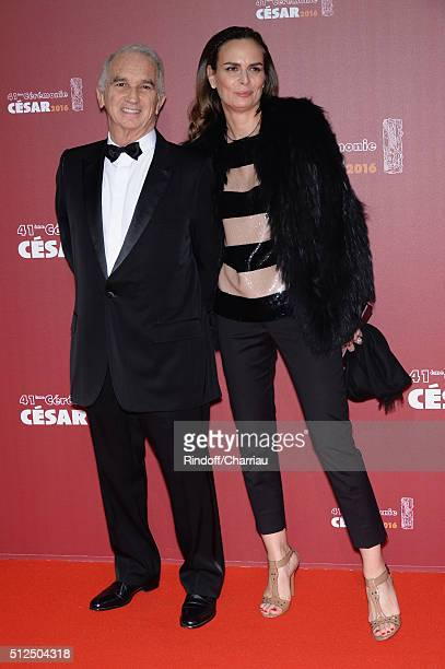 Alain Terzian and Brune de Margerie arrive at The Cesar Film Awards 2016 at Theatre du Chatelet on February 26 2016 in Paris France