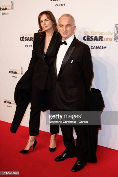 Alain Terzian and Brune de Margerie arrive at the Cesar Film Awards 2018 at Salle Pleyel at Le Fouquet's on March 2 2018 in Paris France