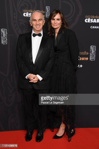 Alain Terzian and Brune de Margerie attend Cesar Film Awards 2019 at Salle Pleyel on February 22 2019 in Paris France