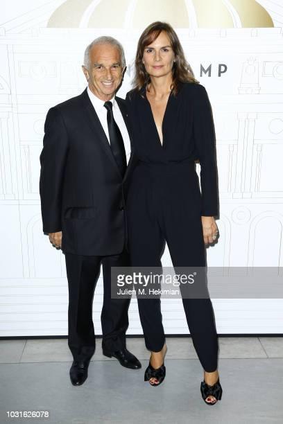 Alain Terzian and Brune de Margerie attend the Longchamp 70th Anniversary Celebration at Opera Garnier on September 11 2018 in Paris France