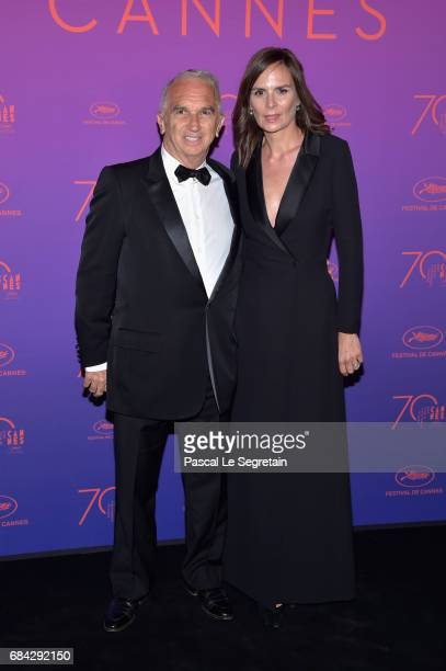 Alain Terzian and Brune de Margerie attend the Opening Gala Dinner during the 70th annual Cannes Film Festival at Palais des Festivals on May 17 2017...