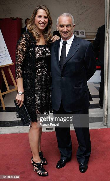 Alain Terzian and Maud Fontenoy attends 'Maud Fontenoy Foundation' Gala at Hotel de la Marine on June 8 2011 in Paris France