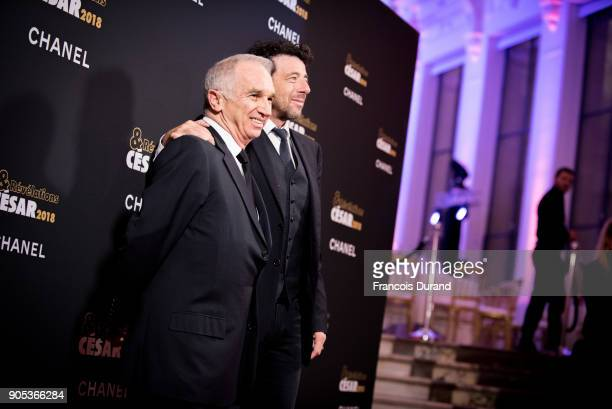 Alain Terzian and Patrick Bruel attend the 'Cesar Revelations 2018' party at Le Petit Palais on January 15 2018 in Paris France