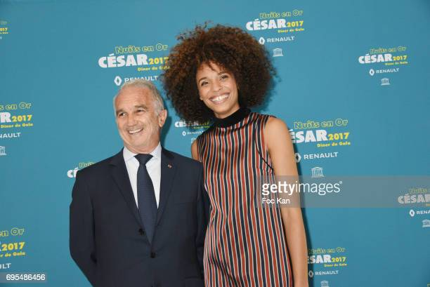 Alain Terzian and Stefi Celma attend 'Les Nuits en Or 2017' Dinner Gala - Photocall at UNESCO on June 12, 2017 in Paris, France.