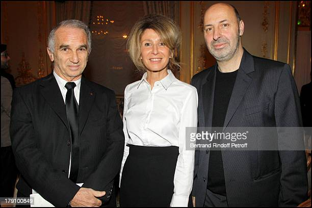 Alain Terzian Anne Florence Schmitt Cedric Klapisch at The Chaumet's Cocktail Party For Cesar's Revelations 2011 At Musee Chaumet Followed By Dinner...
