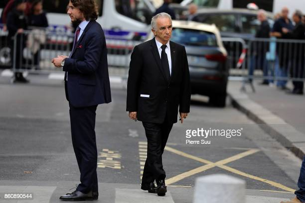 Alain Terzian arrives at ean Rochefort's Funeral At Eglise SaintThomas D'Aquin on October 13 2017 in Paris France