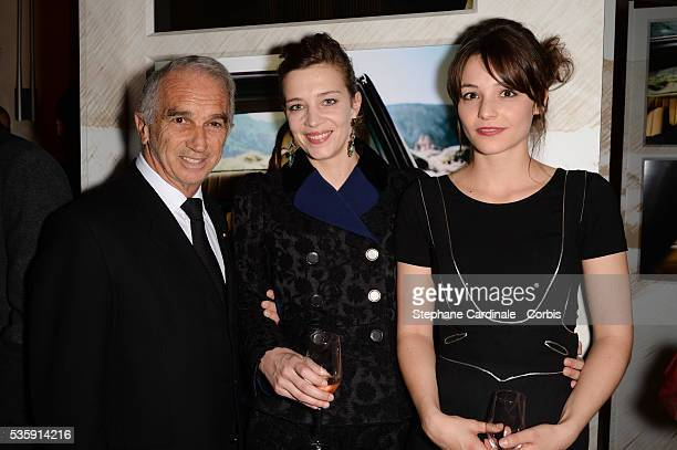 Alain Terzian Celine Salette and Pauline Parigot attend the Chaumet's Cocktail Party for Cesar's Revelations 2014 at Salons Chaumet followed by a...
