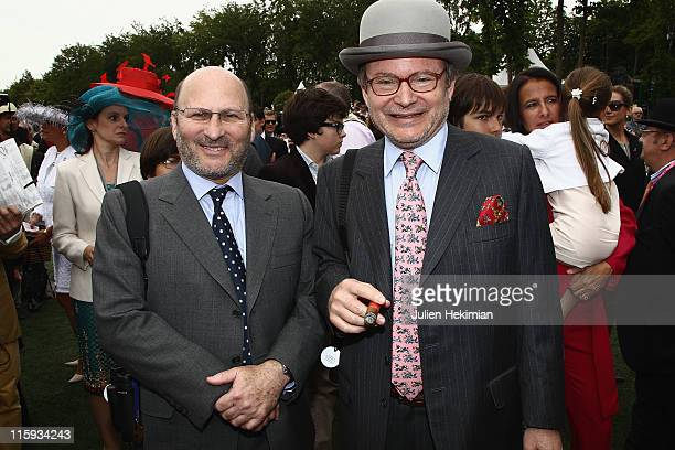Alain Wertheimer and his brother Gerard Wertheimer attend the Prix de Diane Longines at Hippodrome de Chantilly on June 12 2011 in Chantilly France