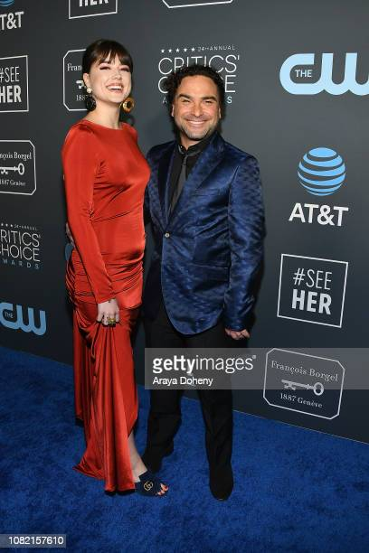 Alaina Meyer and Johnny Galecki at Claire Foy Accepts The #SeeHer Award At The 24th Annual Critics' Choice Awards The Barker Hanger on January 13...