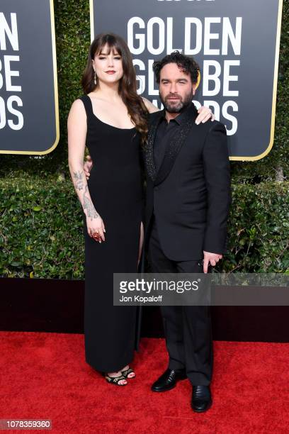 Alaina Meyer and Johnny Galecki attend the 76th Annual Golden Globe Awards at The Beverly Hilton Hotel on January 6 2019 in Beverly Hills California