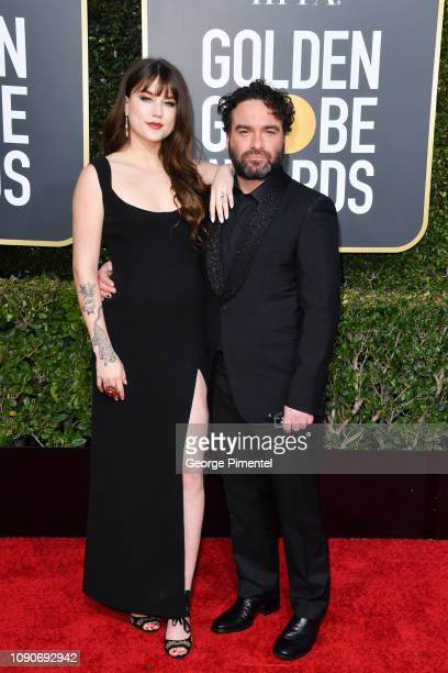 Alaina Meyer and Johnny Galecki attend the 76th Annual Golden Globe Awards held at The Beverly Hilton Hotel on January 06 2019 in Beverly Hills...