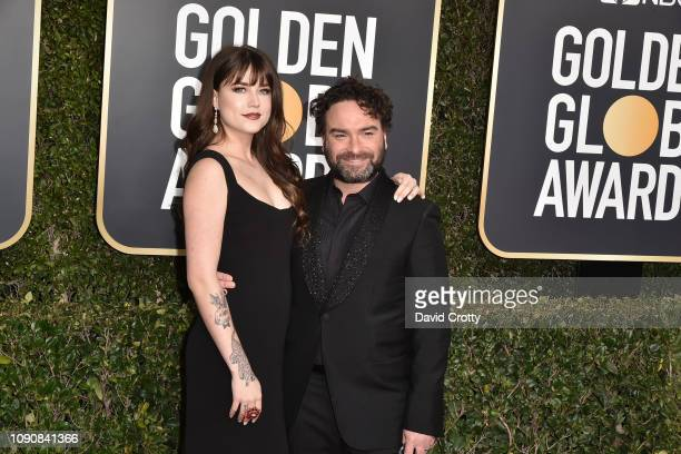 Alaina Meyer and Johnny Galecki attend the 76th Annual Golden Globe Awards at The Beverly Hilton Hotel on January 06 2019 in Beverly Hills California