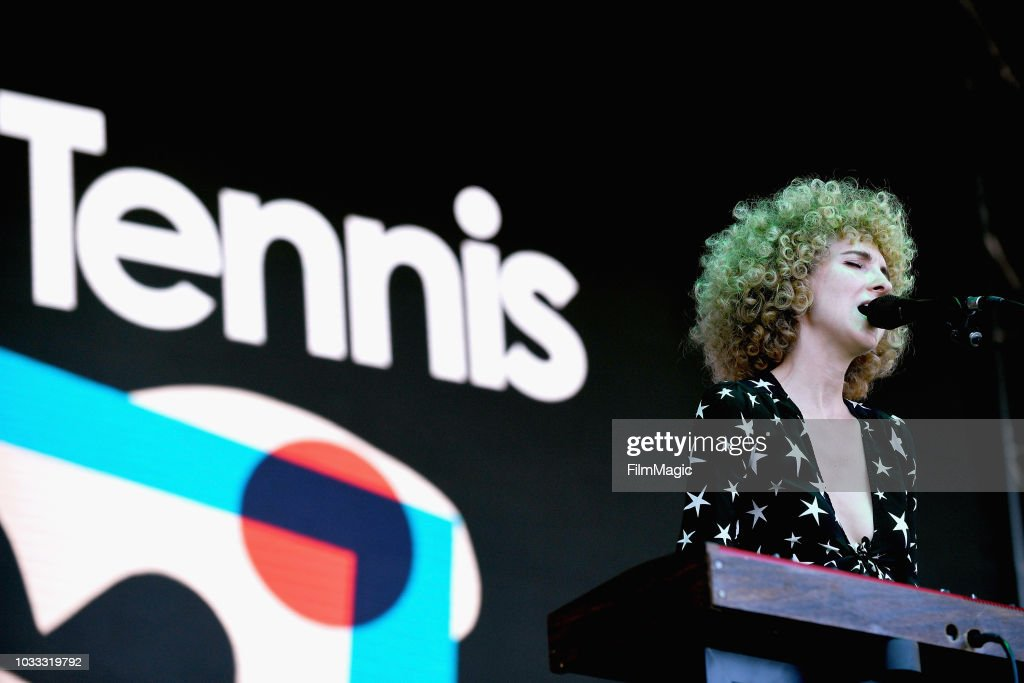 Alaina Moore of Tennis performs on the Paper Stage during day 1 of Grandoozy on September 14, 2018 in Denver, Colorado.