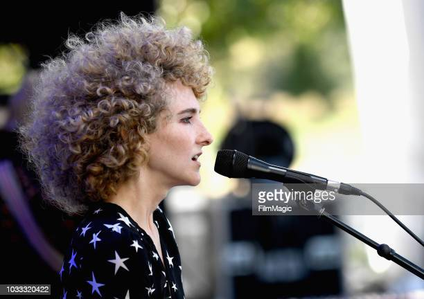 Alaina Moore of Tennis performs on the Paper Stage during day 1 of Grandoozy on September 14 2018 in Denver Colorado