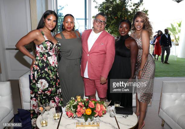 Alaina Smith, Brittany Dunn, Joseph Solis, Chloe Moyo and Rachel Cook attend the Culture Creators Innovators & Leaders Awards at The Beverly Hilton...