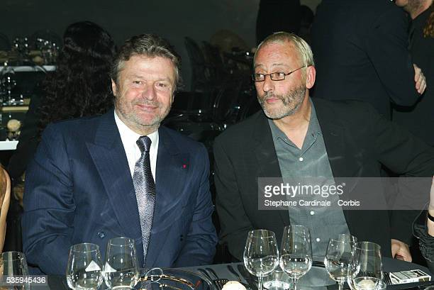 AlainDominique Perrin and actor Jean Reno attend the Cartier Santos Night gala Celebrated jeweler Louis Cartier created the first wristwatch one...