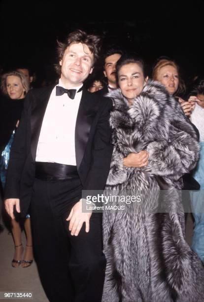 AlainDominique Perrin et Nathalie Hocq lors d'une soirée Cartier le 29 mars 1983 à Port ElKantaoui Tunisie