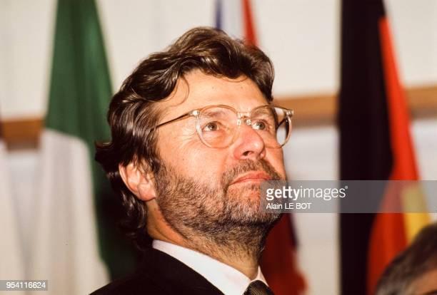 AlainDominique Perrin homme d'affaires président de Cartier le 10 décembre 1993 à Nantes France