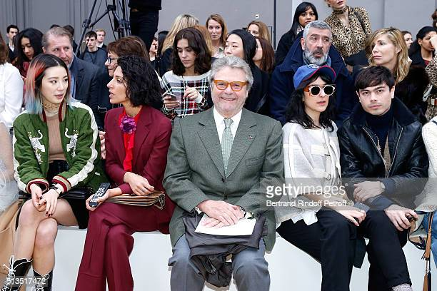 AlainDominique Perrin Irene Kim and Guests attend the Chloe show as part of the Paris Fashion Week Womenswear Fall/Winter 2016/2017 Held at Grand...