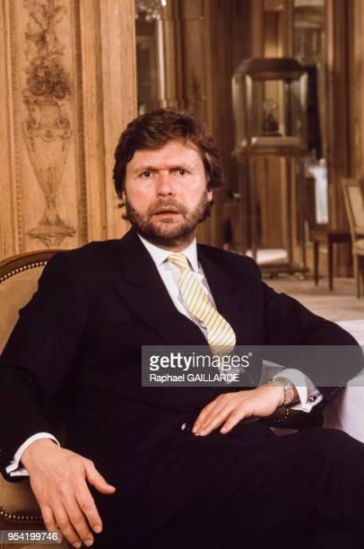 AlainDominique Perrin PDG de la maison Cartier en mars 1987 à Paris France