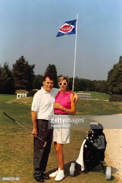 AlainDominique Perrin président de Cartier au golf dans les années 80 France Circa 1980